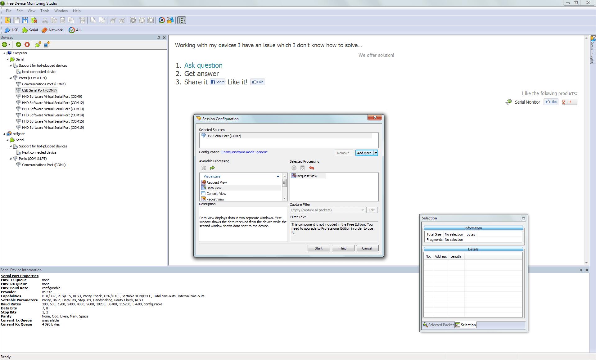 Free Serial Protocol Analyzer Screenshots