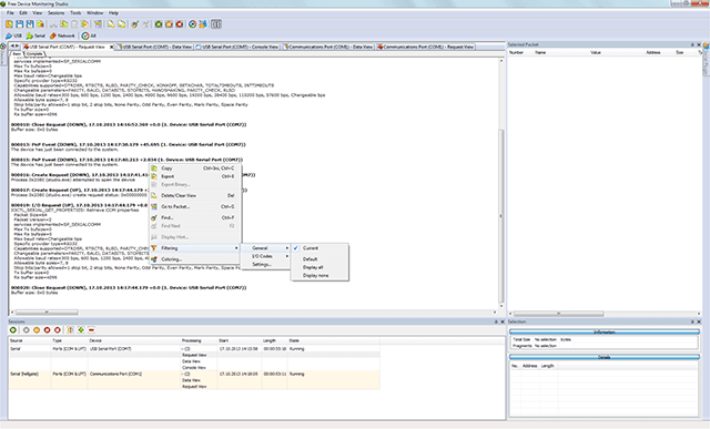 Serial Port Analyzer : Free serial protocol analyzer screenshots